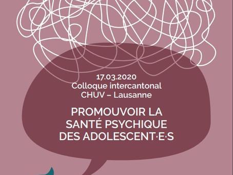 Colloque intercantonal - Promouvoir la santé psychique des adolescent.e.s
