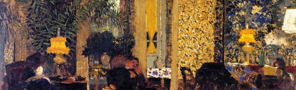 Interior The Salon with Three Lamps Rue