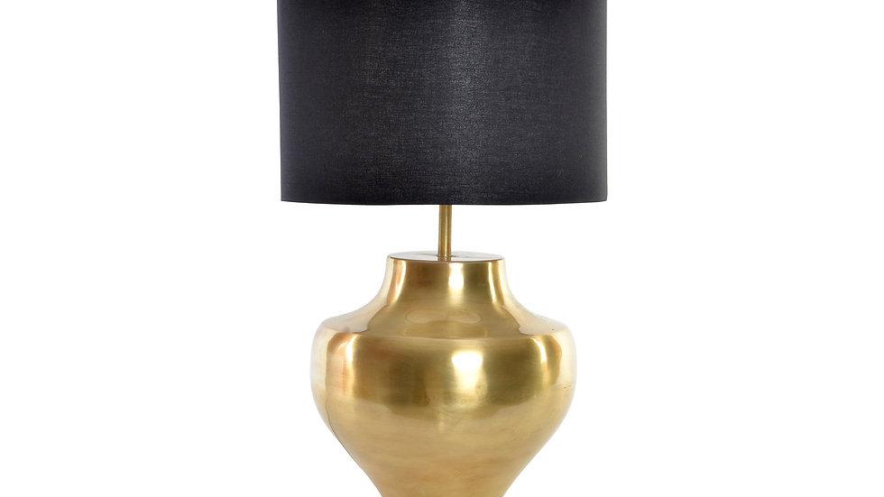 lampara sobremesa metal dorado