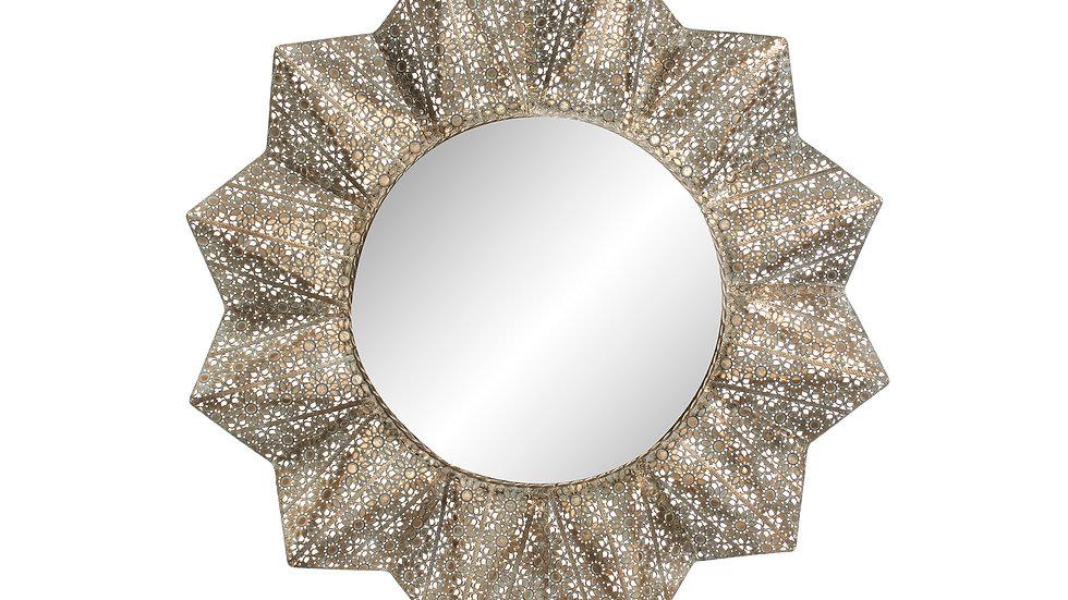 Espejo metal flor etnico