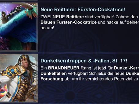 Dunkelkerntruppen & -Fallen T17 und 2x neue Fürsten-Cockatrice Reittiere