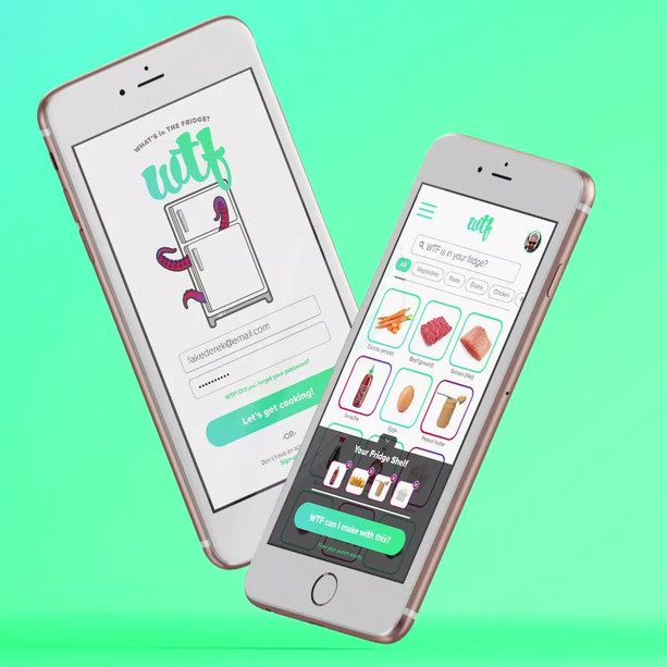 WTF - Food App Mockup