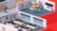 3D Modelling, C4D, low poly, mazagine cover, building, labratory, MRI