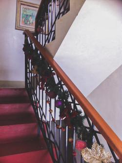 Staircase at Christmas
