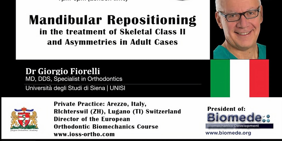 Mandibular repositioning in treatment of Skeletal Class II and Asymmetries in Adult Cases
