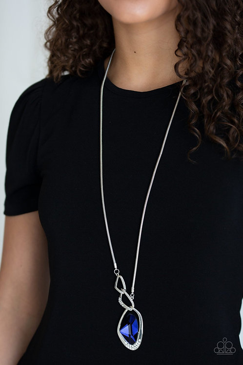 Optical Opulence Blue Necklace