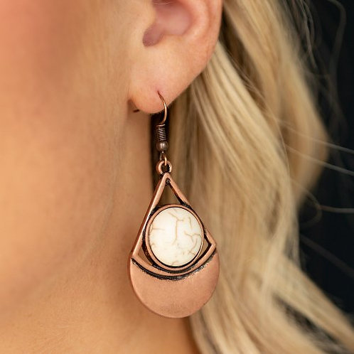 Sonoran Sailing - Copper Earrings