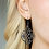 Thumbnail: Garden Mandala - Black Earrings