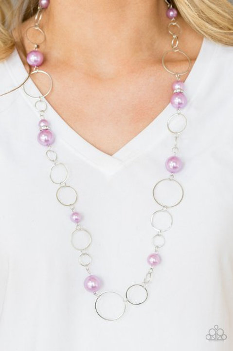Lovely Lady Luck Purple Necklace