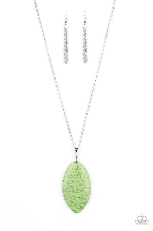 Santa Fe Simplicity Green Necklace