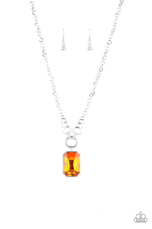 Queen Bling Orange Necklace