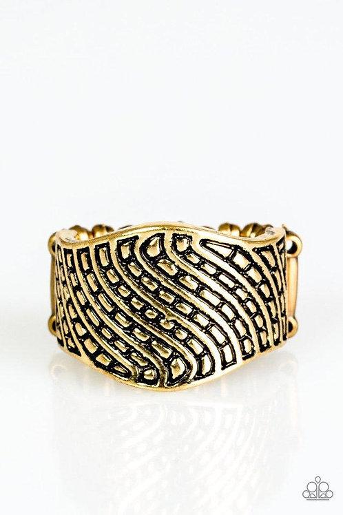 Desert Waves Brass Ring