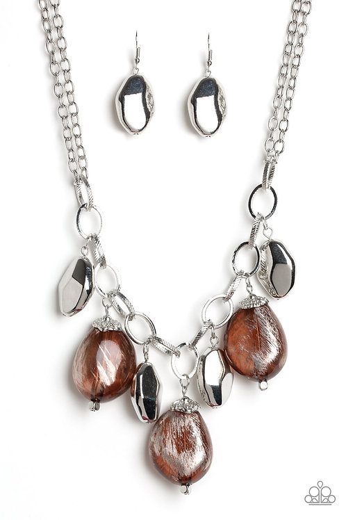 Looking Glass Glamorous Brown Necklace