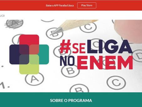 Programa 'Se Liga no Enem' lança edital com 3,5 mil vagas abertas, na Paraíba
