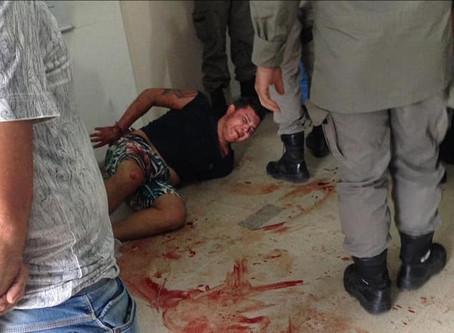 Homem é preso ao tentar matar mulher com pedaço de vidro