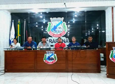 O Presidente da Câmara de Araruna-PB promulga a Lei Orçamentária Anual