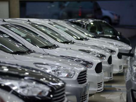 Vendas de veículos crescem 10,48% em 2019