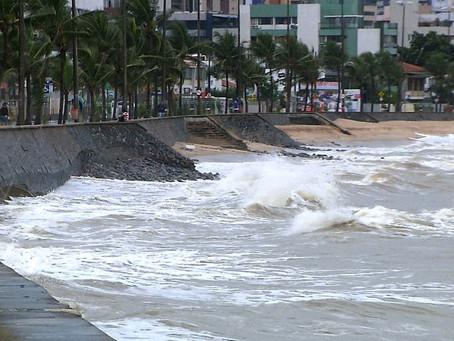 Mar agitado na Paraíba vai provocar grandes ondas de até 3 metros