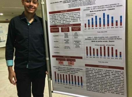 Aluno de engenharia da UEPB campus Araruna apresenta trabalho em Portugal
