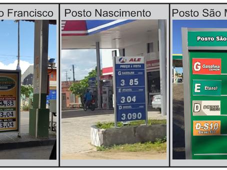 Confira os valores atualizados do combustível em postos de Araruna
