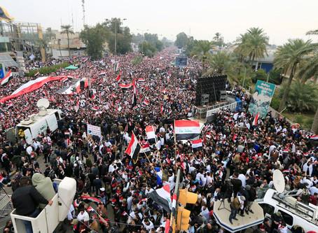 Marcha no Iraque pede saída das tropas dos EUA