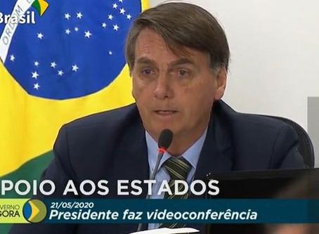 Em reunião com governadores, Bolsonaro defende congelamento de salário dos servidores e garante sanc