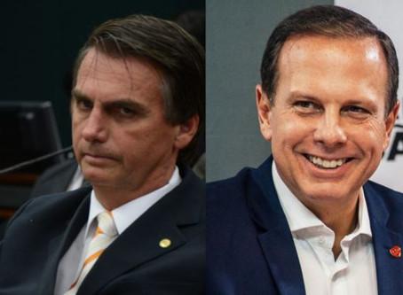 Bolsonaro e Doria batem boca durante reunião