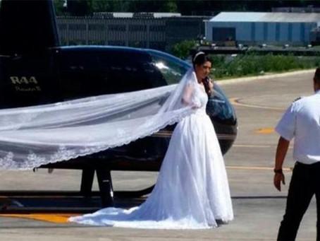 Helicóptero cai e mata noiva a caminho de casamento