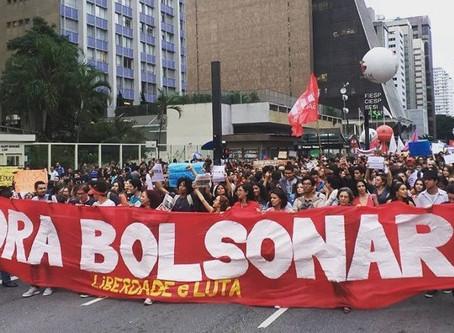 Protesto na Paulista pede 'Fora Bolsonaro'