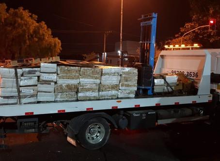 Polícia apreende oito toneladas de maconha