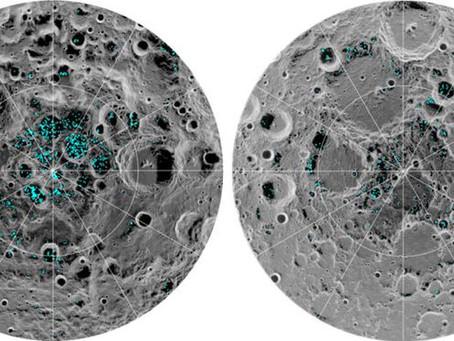 Nasa informa que a lua tem dois depósitos de gelo