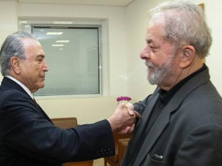 Michel Temer visita Lula em hospital de São Paulo