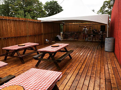 Outdoor patio at the Hayloft Dancehall