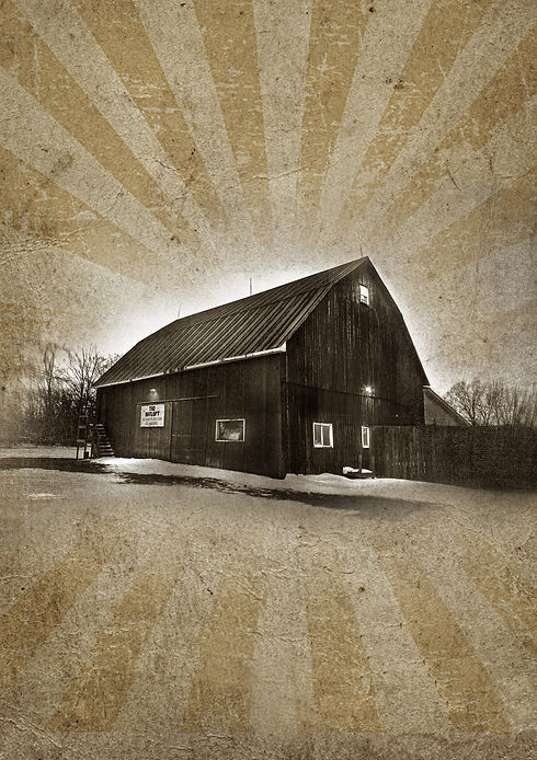 Vintage style image of the Hayloft Dancehall