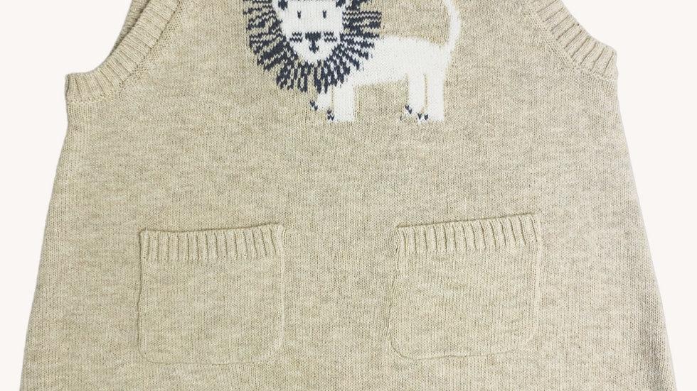 Lion Knit Baby Romper