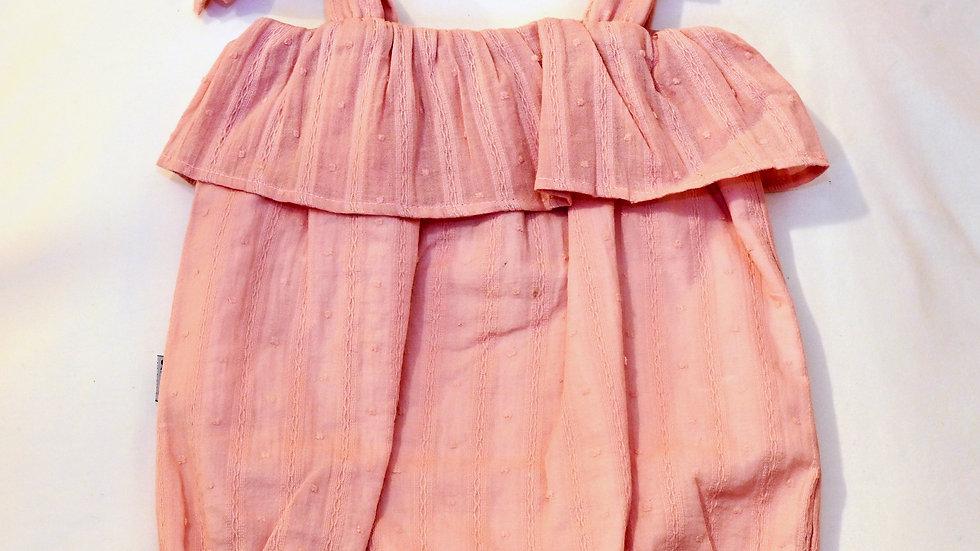 Dusty Pink Ruffle Romper