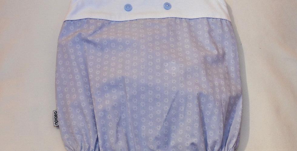 Geo Blue Print Romper