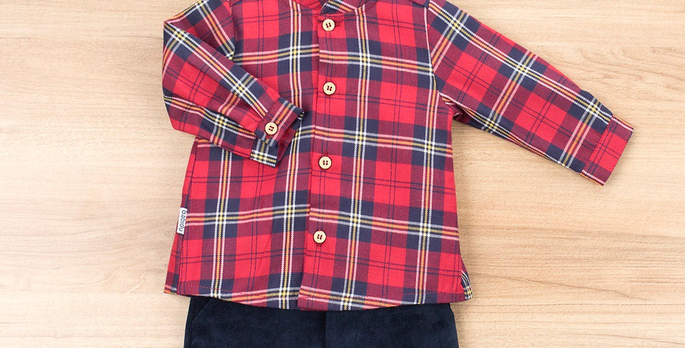 Long button shirt and Short pants set - Vasco
