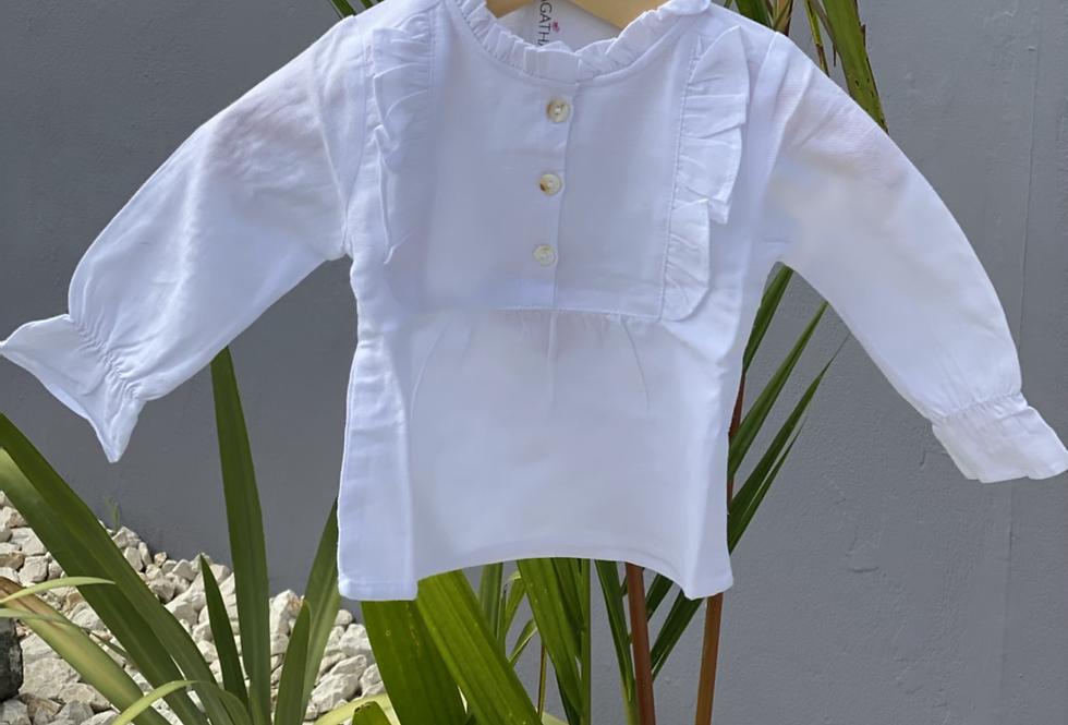 Cecilia's Classic White Blouse