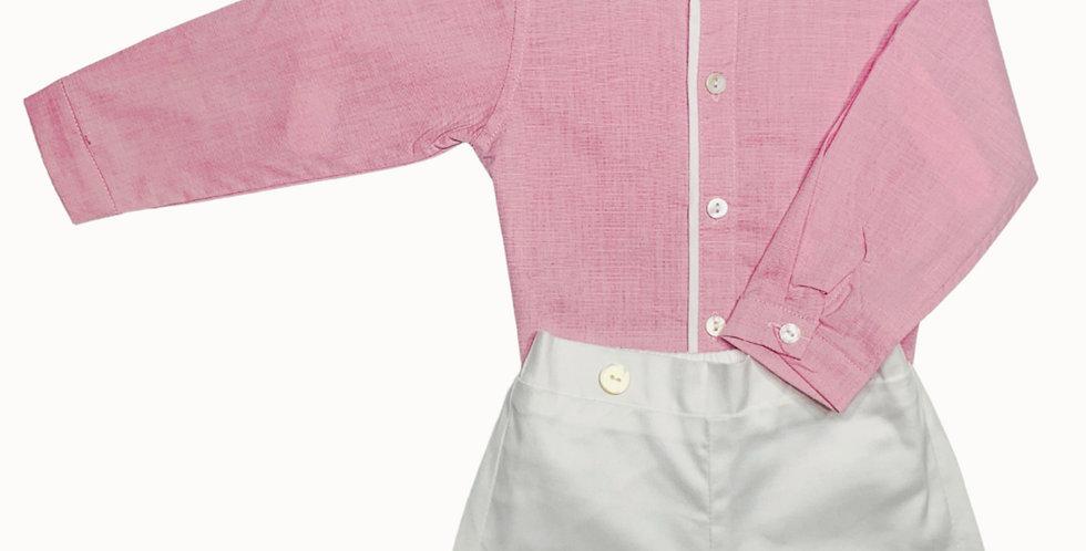 Long shirt & short pant set