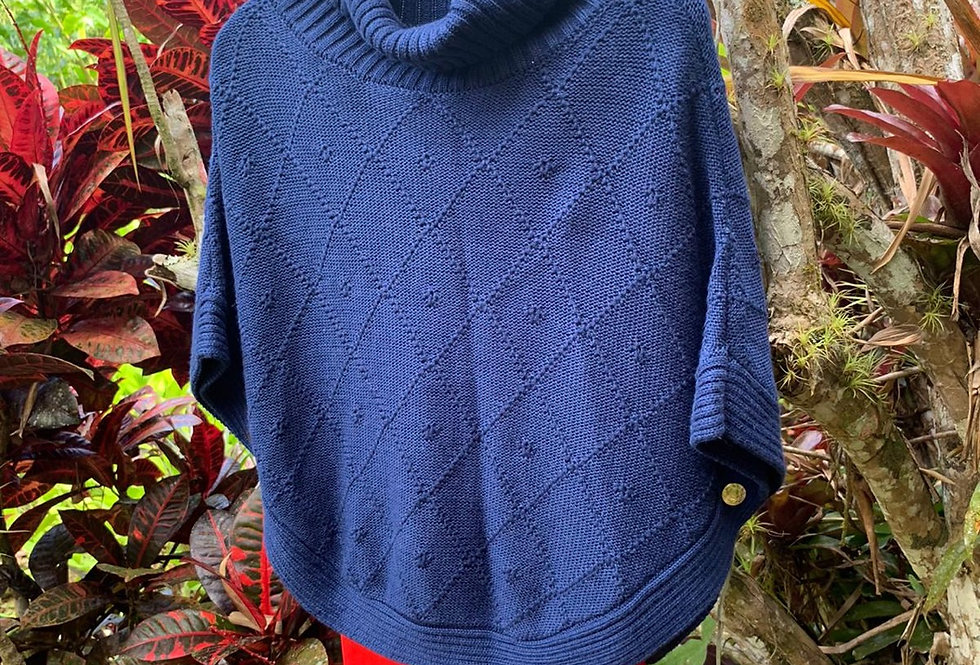 Lisa's Knitted Poncho