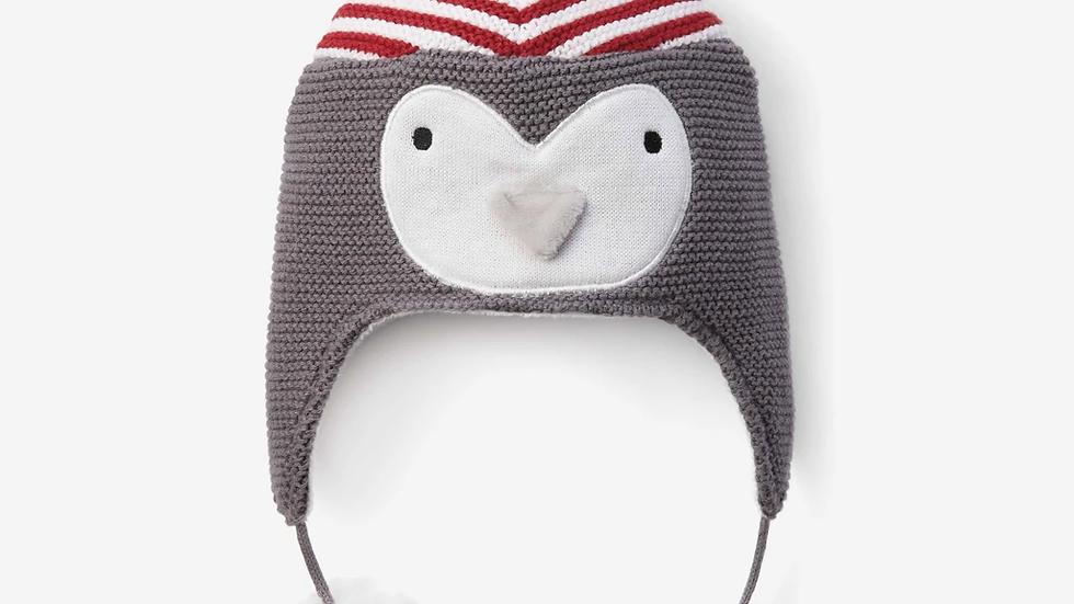Penguin Aviator Knit Baby Hat