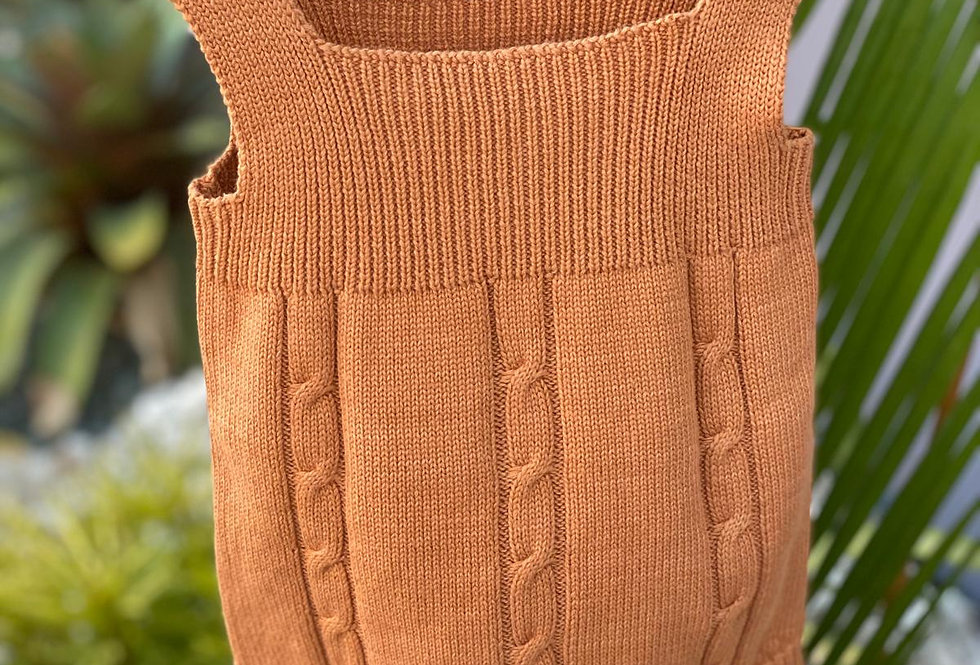 Camel Knitted Romper