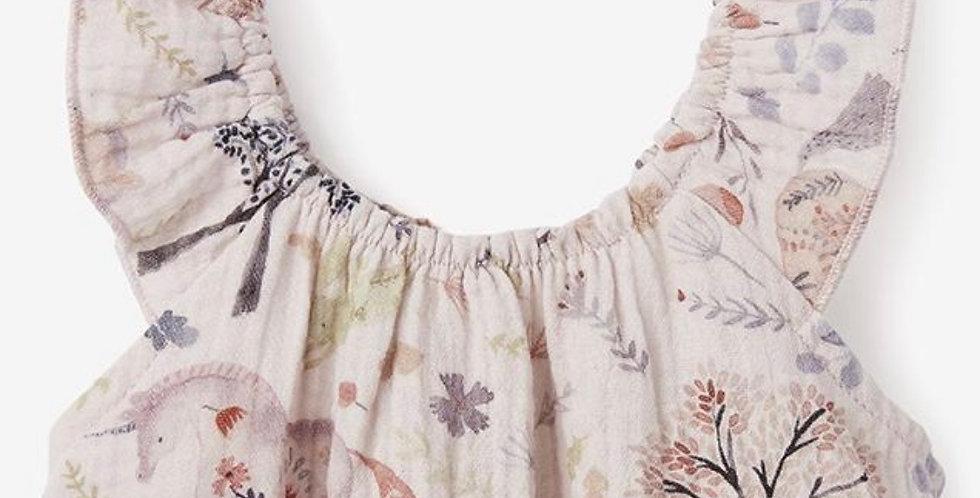 Safari Organic Muslin Flutter Sleeves and Bloomer Set