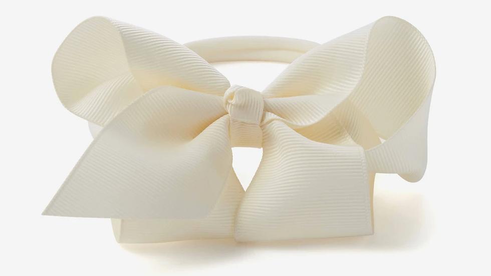 Cream Baby Girl Bow Headband