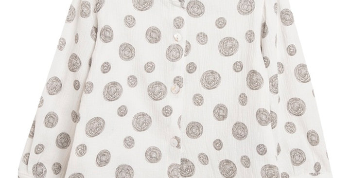 Silver Polka Dots Blouse