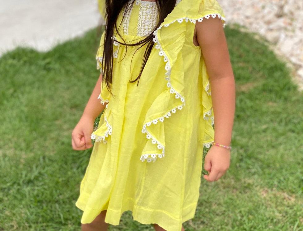 Lemon Lace Dress