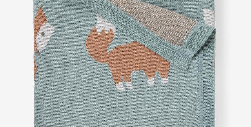 Fox Knit Baby Blanket