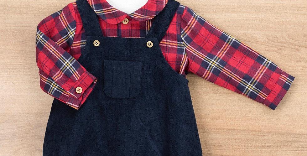 Overall and long button shirt - Vasco