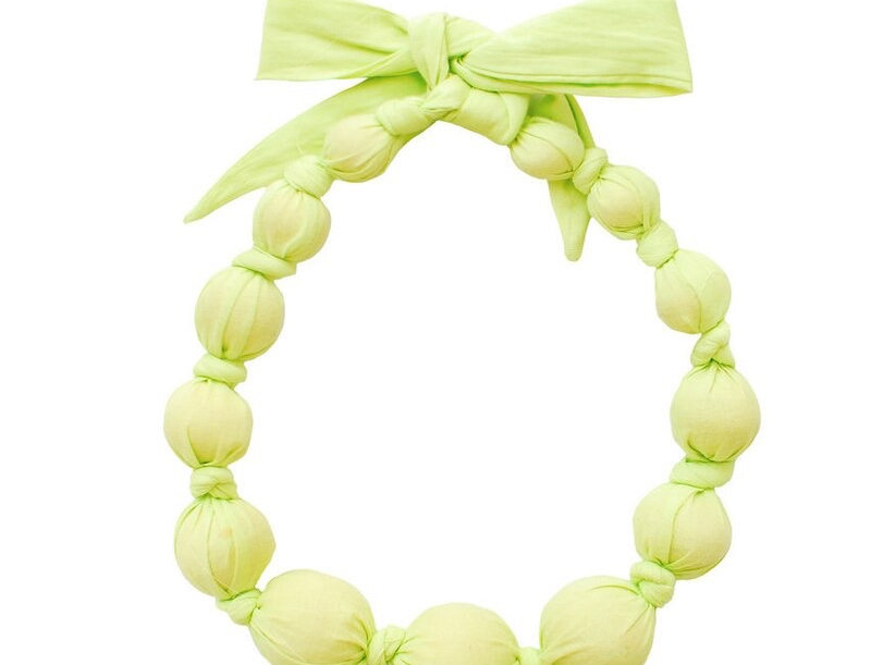 Lime Wooden Bead Necklace